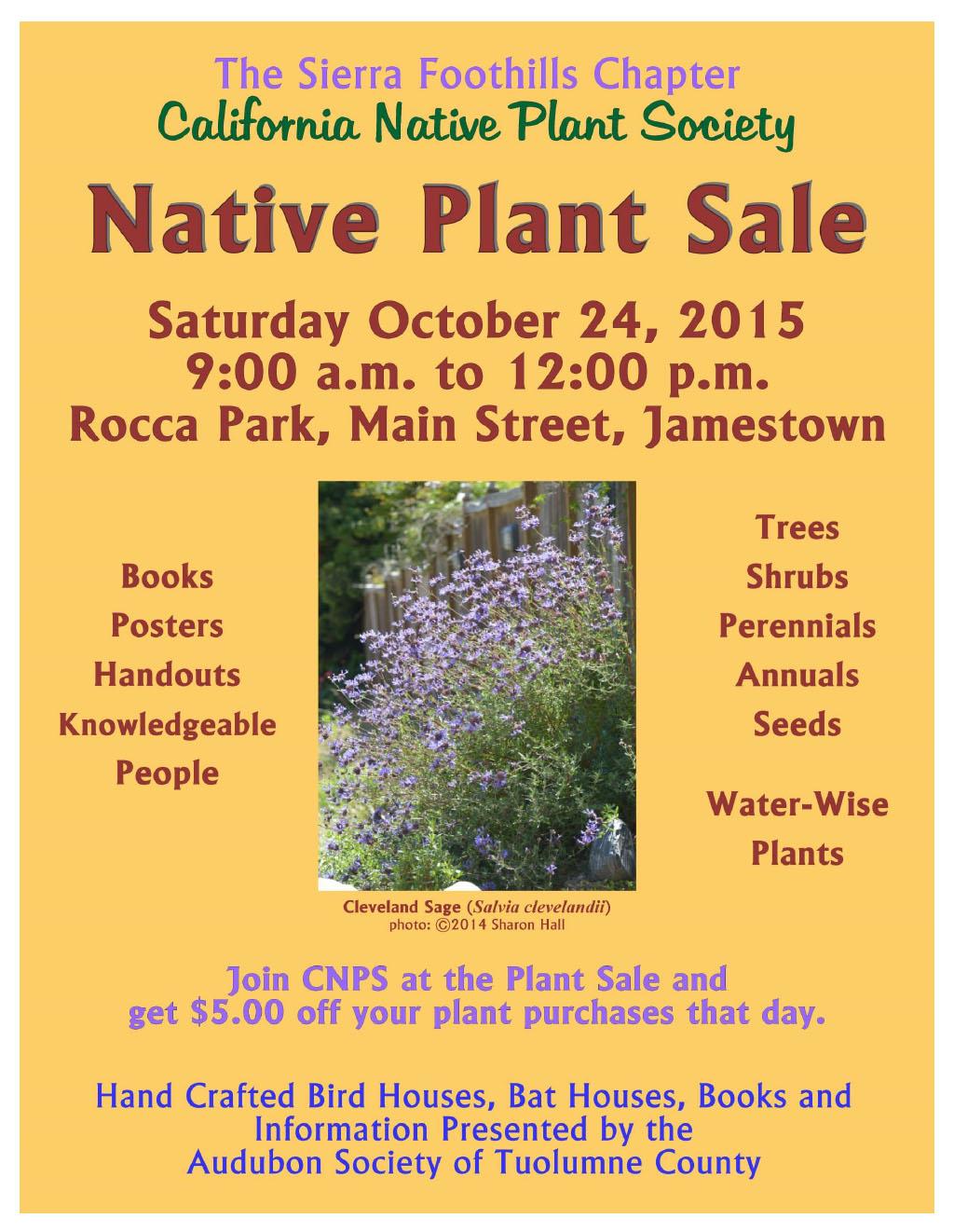 2015 fall plant sale